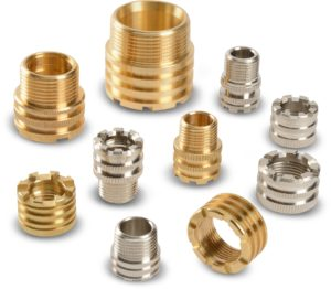 BRASS INSERTS FOR POLY PROPYLENE MOLDING